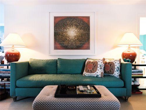 混搭风格二居室客厅沙发装修效果图