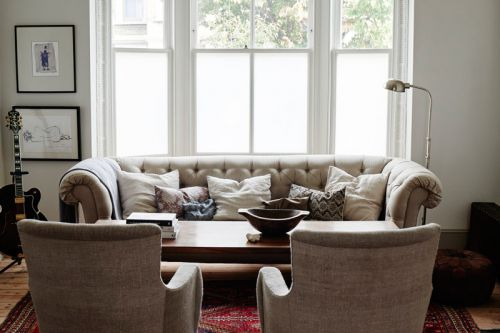 美式风格优雅大方客厅装修实景图