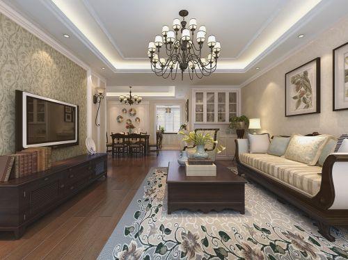典雅贵气美式客厅吊灯效果图