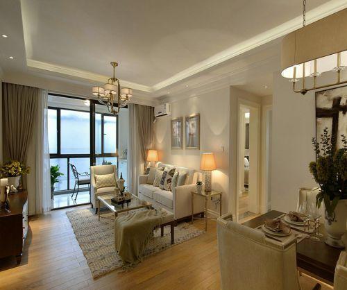 暖色温馨美式风格客厅装修效果图