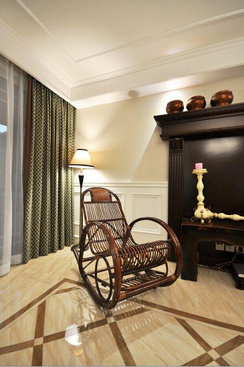 精致美式风格客厅窗帘装修设计