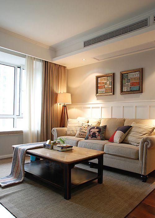 时尚美式风格客厅灯具装修案例