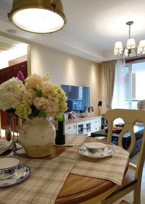 家装美式风格客厅灯具效果图欣赏