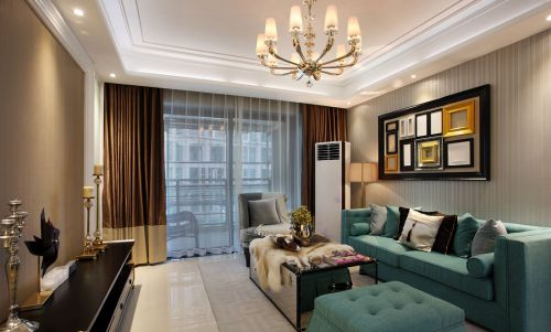 华丽美式风格客厅沙发图片欣赏