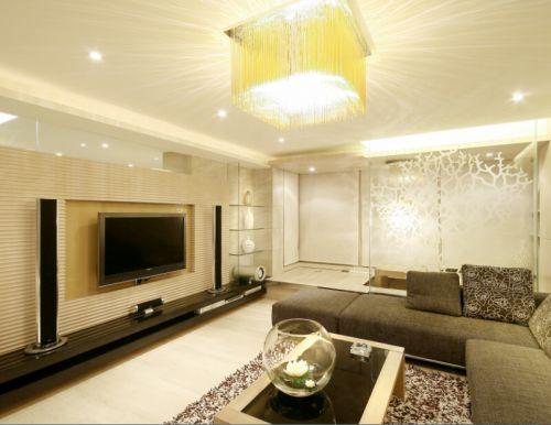 美式简约四居室客厅装修图片欣赏