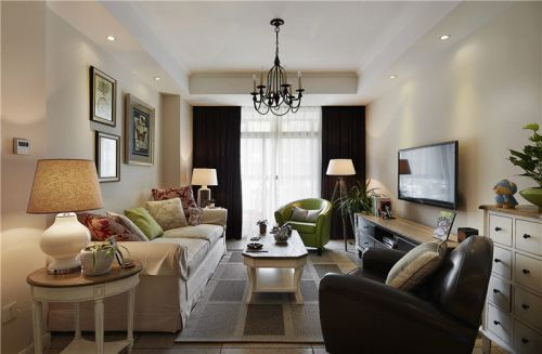 美式风格二居室客厅装修效果图欣赏