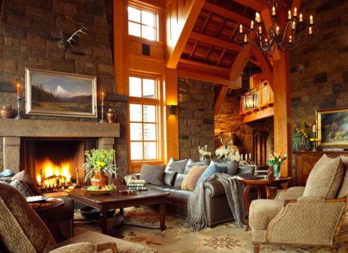 乡村美式风格生活品味客厅装修实景图