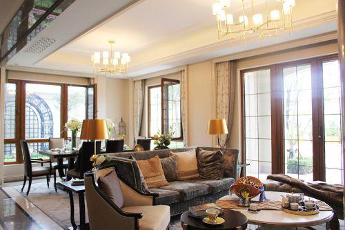 现代美式风格别墅客厅装修效果图欣赏