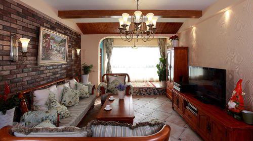 典雅美式风格客厅飘窗榻榻米装修图片