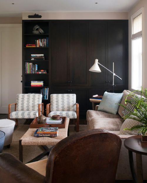 内敛雅致美式风格客厅储物柜效果图