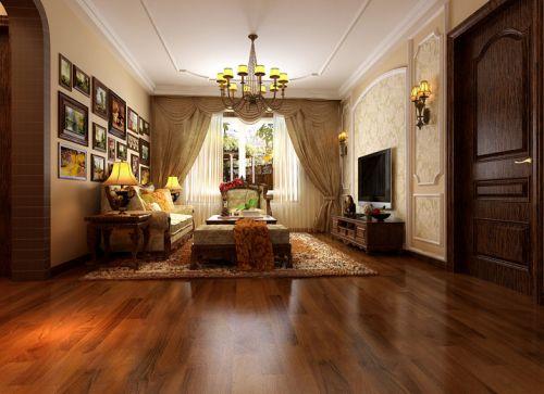 美式二居室客厅装修效果图欣赏