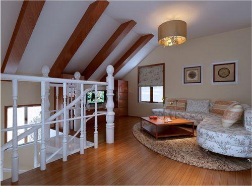 美式乡村二居室客厅装修效果图欣赏