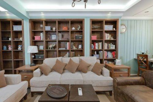 美式二居室客厅装修图片