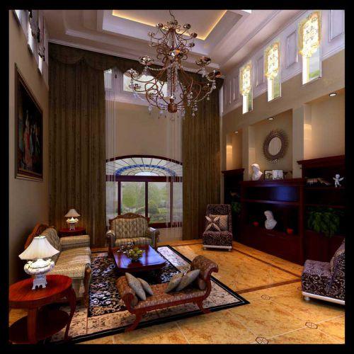 美式风格跃层客厅装修图片欣赏