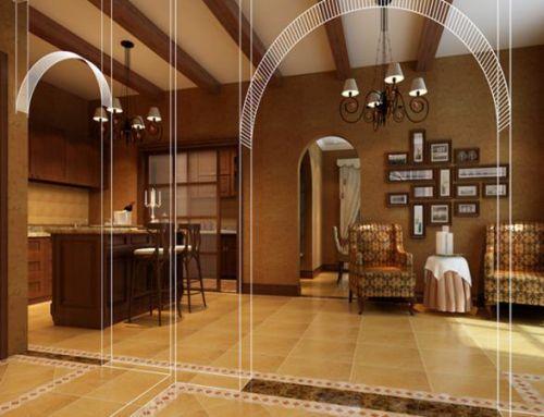美式乡村别墅客厅装修图片