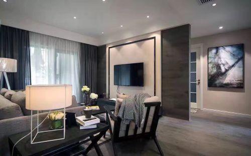 韩式风格三居室客厅背景墙装修效果图