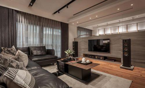 韩式风格三居室客厅电视柜装修图片