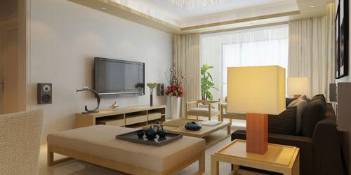 韩式风格三居室客厅吊顶装修效果图