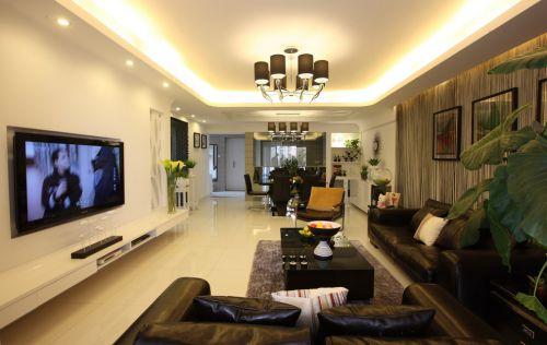 韩式风格会客厅吊顶效果图