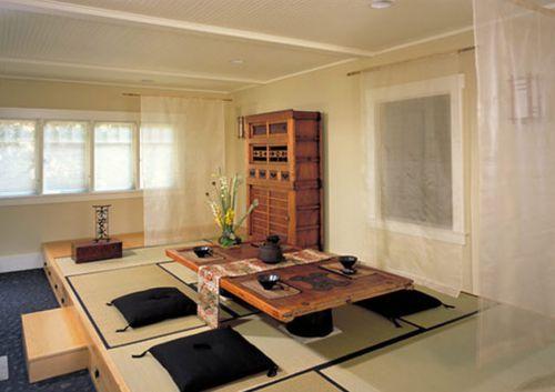 日式风格客厅地台榻榻米设计图
