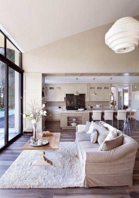 韩式风格公寓客厅米色布艺沙发装修设计