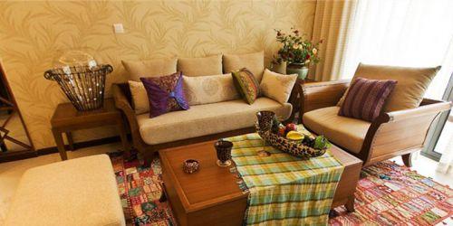 东南亚风格二居室客厅沙发装修图片