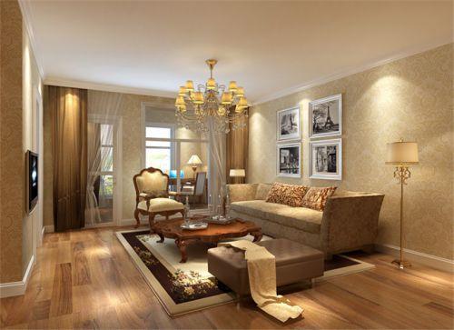 東南亞風格五居室客廳飄窗裝修圖片