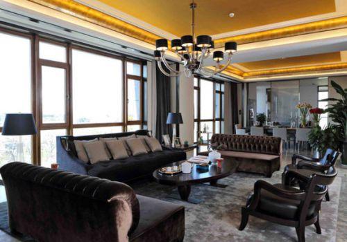 东南亚风格四居室客厅沙发装修效果图欣赏