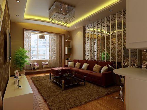 东南亚风格二居室客厅灯具装修图片