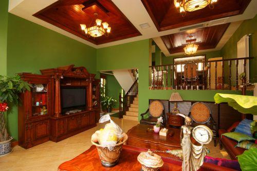 东南亚风格五居室客厅电视柜装修效果图大全