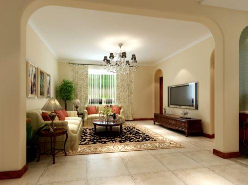 东南亚风格四居室客厅装修图片欣赏