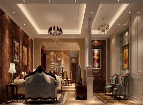 东南亚风格四居室客厅装修效果图大全