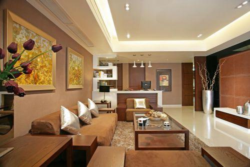 新古典三居温馨优雅客厅装修效果图