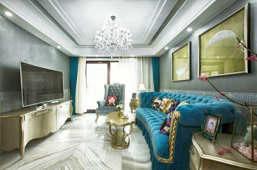 轻奢新古典风格客厅茶几装修图片