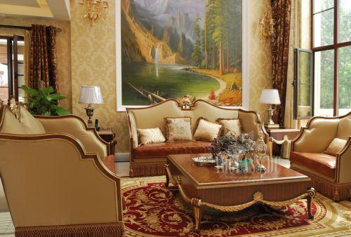 法式新古典别墅客厅装修效果图欣赏