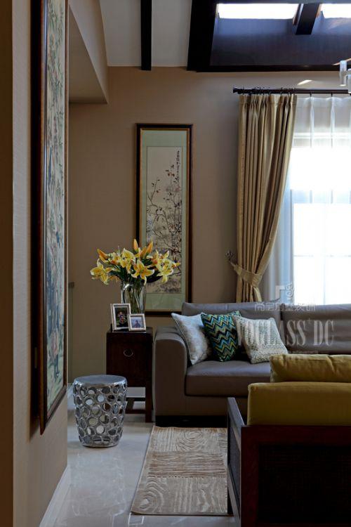 中式古典别墅客厅装修图片欣赏