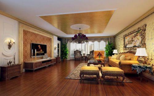 新古典风格二居室客厅电视柜装修效果图大全