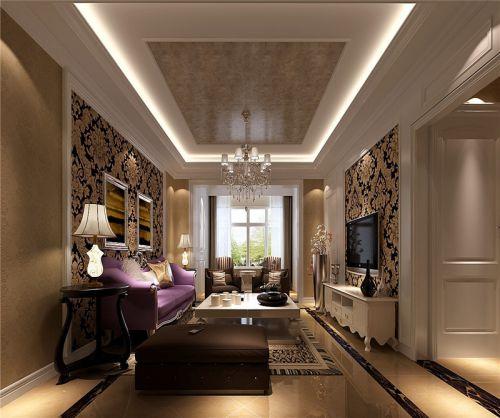 新古典风格三居室客厅照片墙装修效果图大全