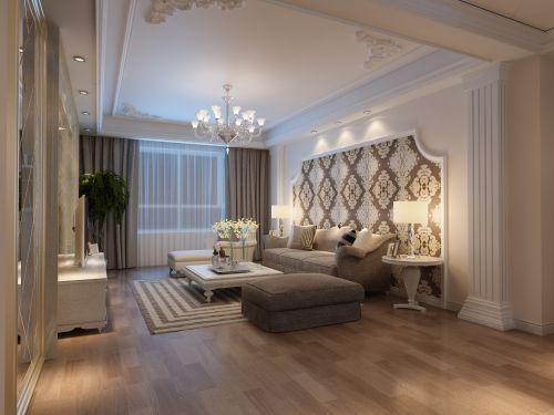 西式古典三居室客厅吊顶装修效果图大全