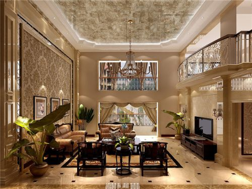 西式古典四居室客厅电视柜装修效果图大全