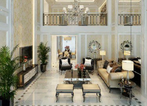 西式古典别墅客厅飘窗装修效果图欣赏