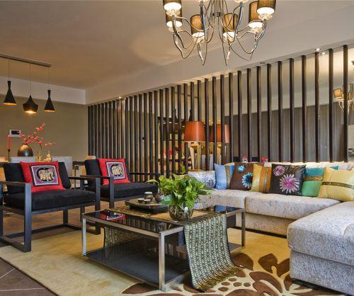 浪漫东方古典风格客厅茶几装修效果图