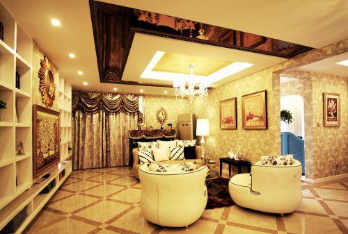 新古典风格二居室客厅沙发装修效果图大全