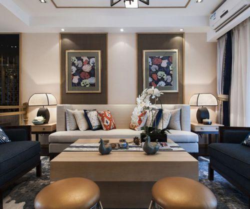 新时代质感古典风格客厅沙发装修效果图