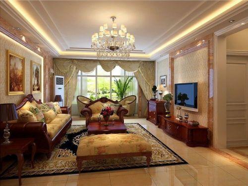 新古典风格四居室客厅装修图片