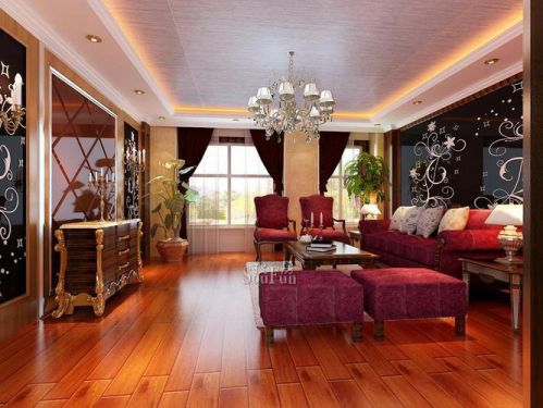 西式古典三居室客厅装修效果图大全