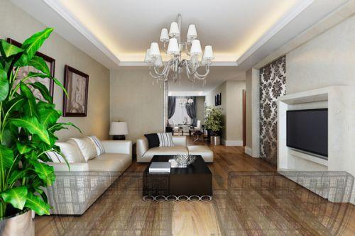 新古典风格三居室客厅书柜装修效果图大全