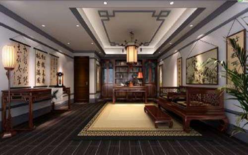 中式古典五居室客厅装修图片欣赏