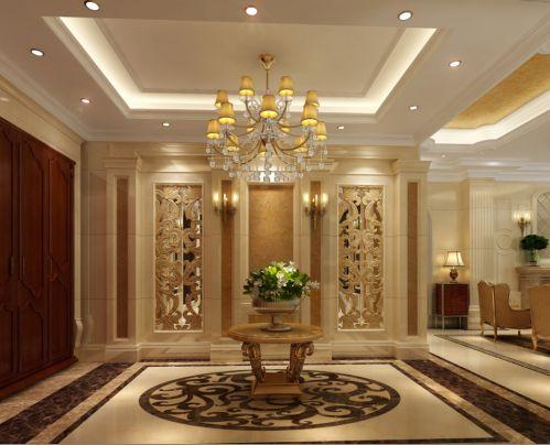 西式古典别墅客厅吊顶装修效果图大全