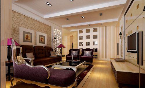 西式古典四居室客厅装修效果图欣赏
